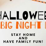 Halloween big night in with halloween pencils and plastic pumkin
