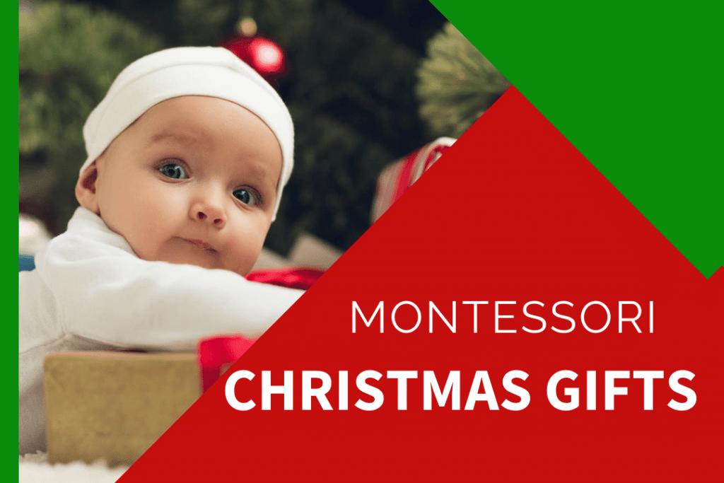 baby with montessori christmas presents