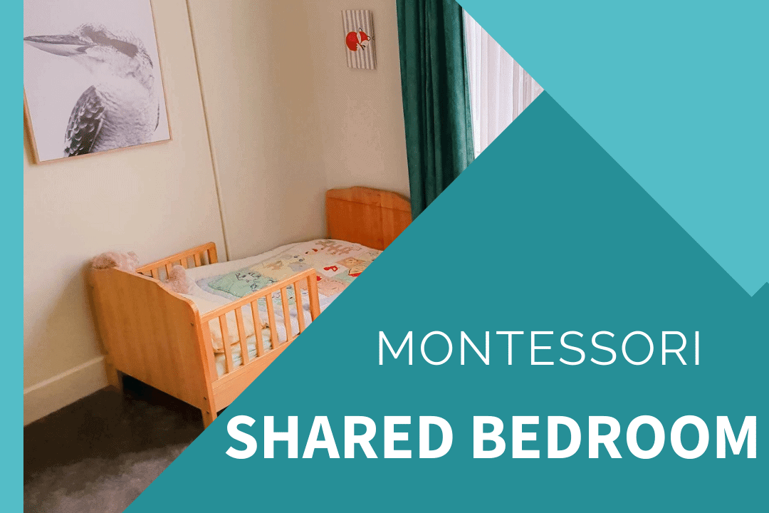 montessori toddler bed in a shared bedroom