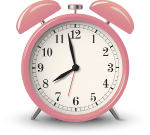 pink clock about making time for self care