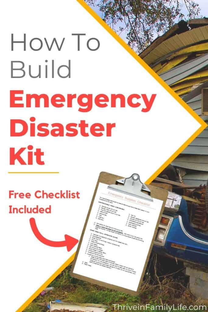 How to create an Emergency Disaster Kit and Emergency Plan for your family. Free Checklist included to help you get started this weekend! Life happens, be prepared.