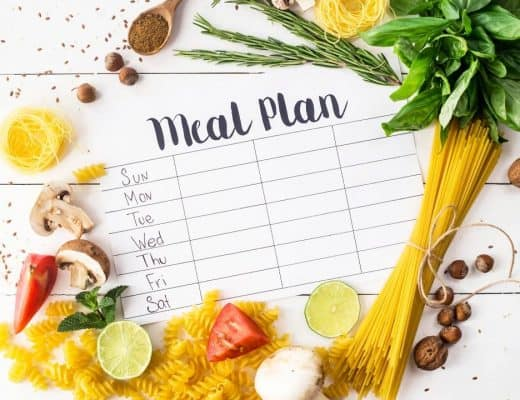 weekly meal plan for monday