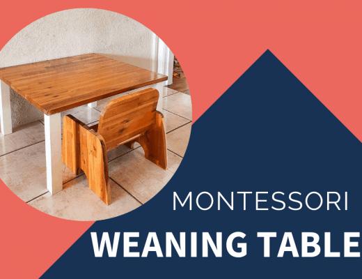 diy montessori weaning table
