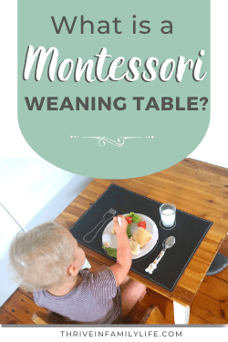 What is a Montessori Weaning Table?