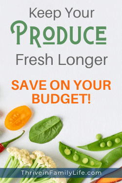 Tips to get produce to last longer and save money on your grocery budget Pin