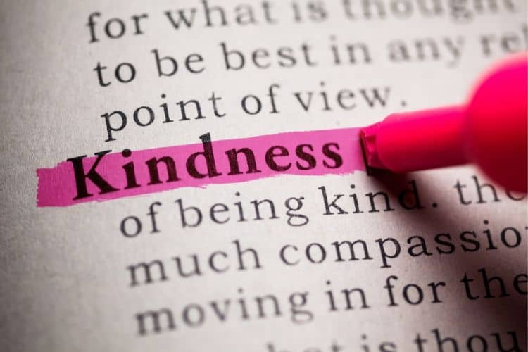 Important and definition of kindess for a community