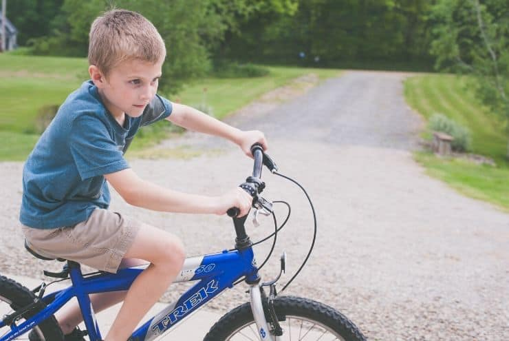 avoid raising lazy kids by letting them get bored and pursuing hobbies like bike riding