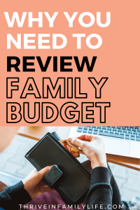easy way to review family budget