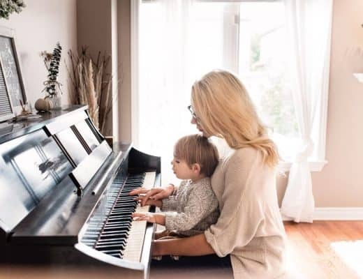 list of family traditions examples with mom at piano
