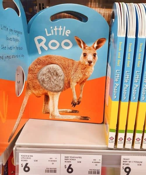 montessori style kid toddler book from Kmart AU