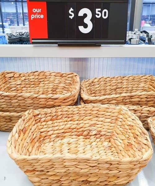 kmart baskets for montessori use