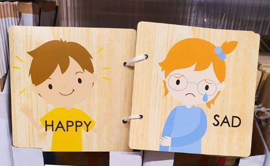 montessori style emotion cards from kmart australia