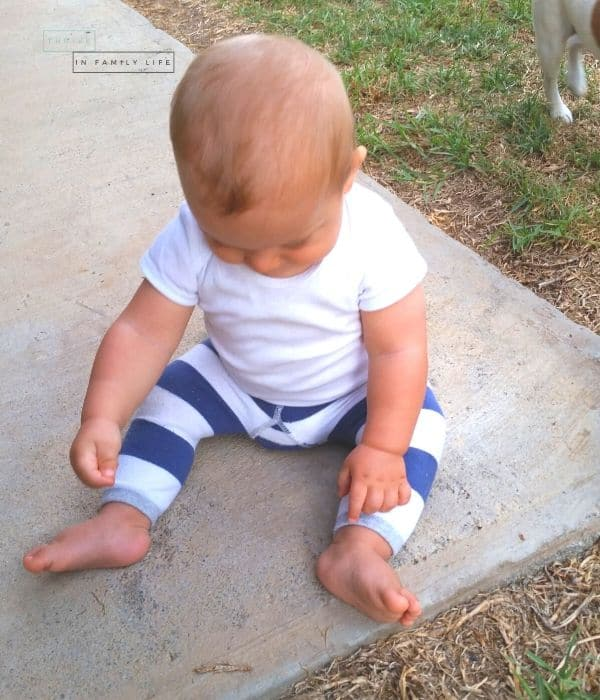 Montessori outdoor play 7 month old