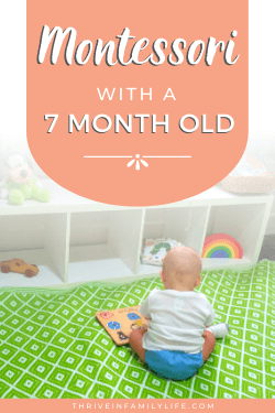 montessori with a 7 month old baby