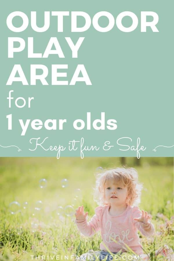 outdoor play area for 1 year olds