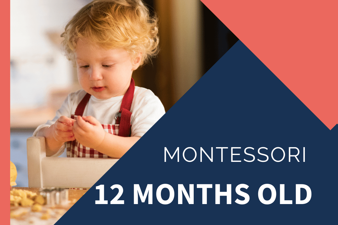montessori 12 month old at learning tower