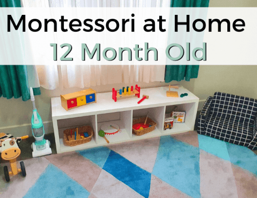 montessori at home with 12 month old