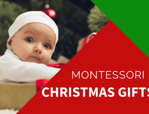 baby with montessori christmas presents