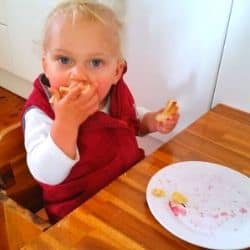 weaning table with 12 month old