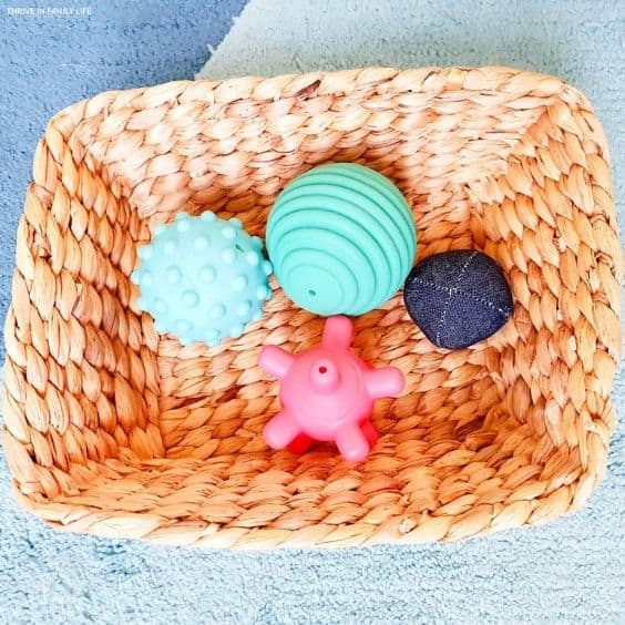 Assorted balls with different textures for baby