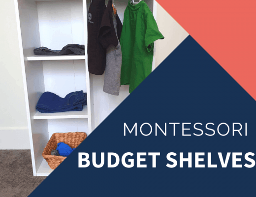 montessori DIY wardrobe