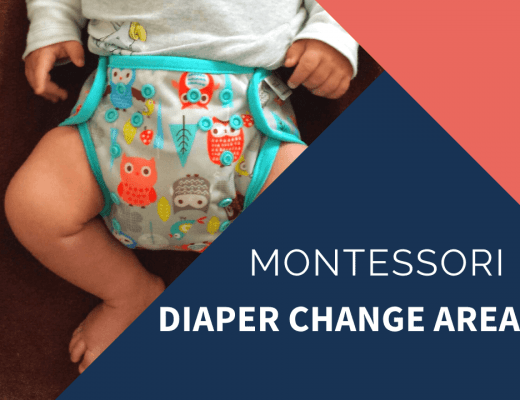 standing diaper change area post